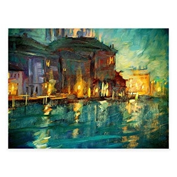 Preferred Abstract Garden Wall Art Within Amazon : Abstract Evening All Weather Outdoor Canvas Wall Art (View 12 of 15)