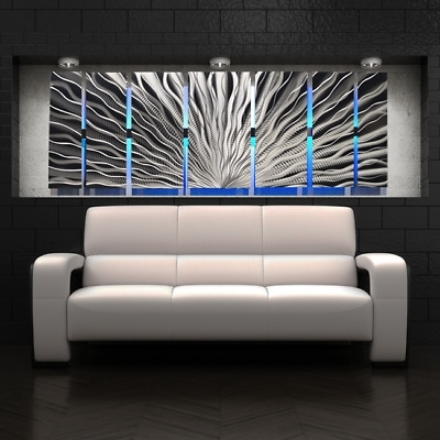 Preferred Abstract Iron Wall Art In Color Changing Led Modern Abstract Metal Wall Art Sculpture Painting (View 11 of 15)