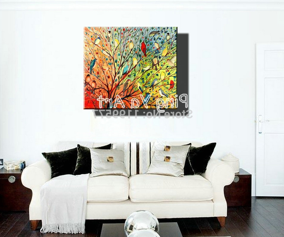 Preferred Abstract Nature Canvas Wall Art Throughout Buy Abstract Modern Large Canvas Wall Art Handmade Decorative (View 12 of 15)