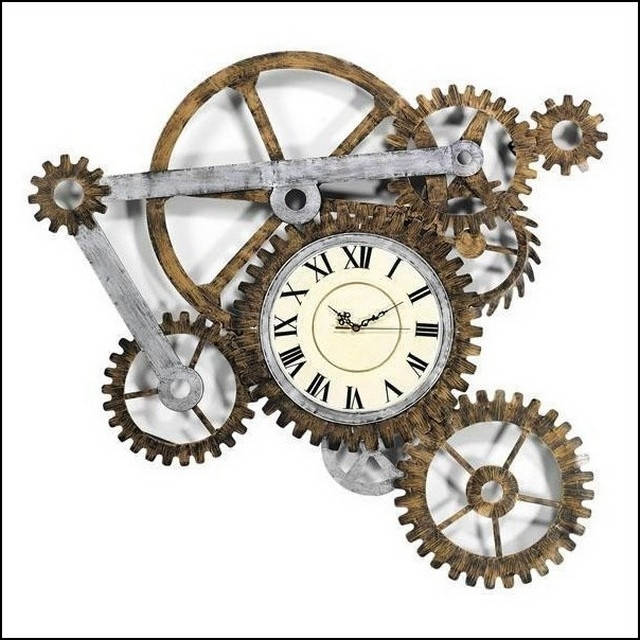Preferred Abstract Wall Art With Clock Pertaining To Abstract Wall Art With Clock (View 7 of 15)