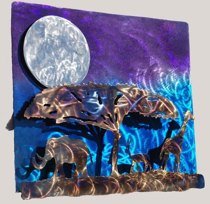Preferred African Night Metal Wall Art – $ (View 14 of 15)