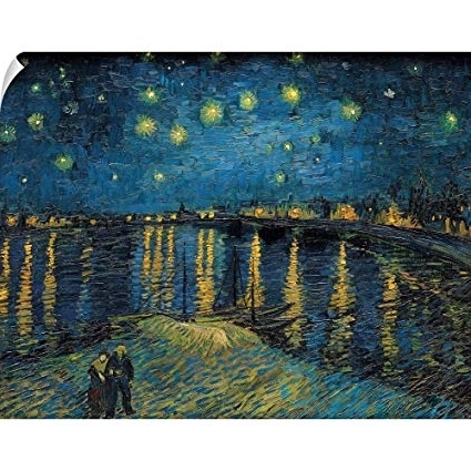 Preferred Amazon: Canvas On Demand Vincent Van Gogh Wall Peel Wall Art Pertaining To Vincent Van Gogh Wall Art (View 7 of 15)