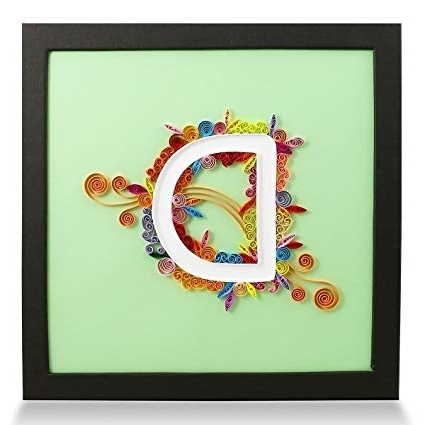 Preferred Amazon: Letter D Handmade Paper Quilling Artwork, Framed 3D Wall Inside Framed 3D Wall Art (View 6 of 15)