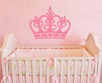 Preferred Amazon: Princess Crown Wall Decal – Vinyl Queen Castle Nursery In Princess Crown Wall Art (View 9 of 15)