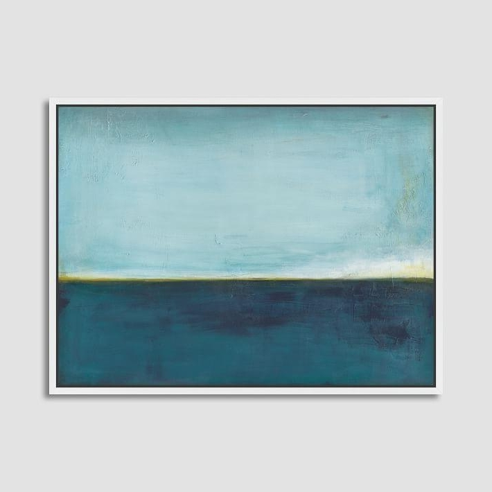 Preferred Aqua Abstract Wall Art Intended For Cool Aqua Horizon Wall Canvas Art (View 3 of 15)