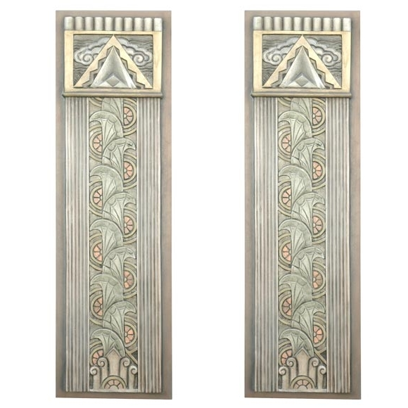 Preferred Art Deco Movie Theater Wall Plaques For Sale At 1Stdibs Regarding Art Deco Metal Wall Art (View 3 of 15)