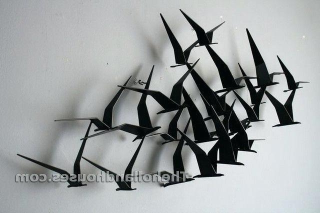 Preferred Birds Metal Wall Art Flying Birds Metal Wall Art Handcrafted Flock Intended For Flock Of Birds Metal Wall Art (View 8 of 15)