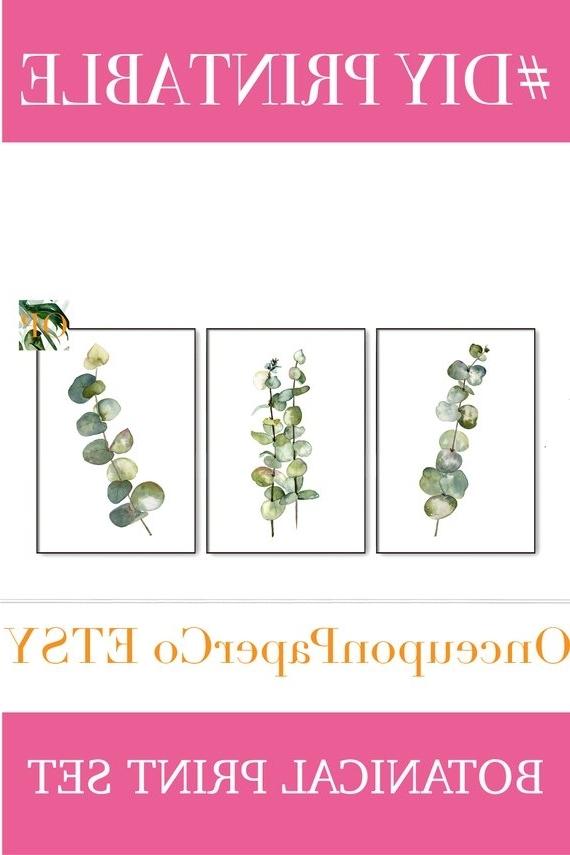 Preferred Botanical Poster Set Of 3 Botanical Prints Botanical Print (View 13 of 15)