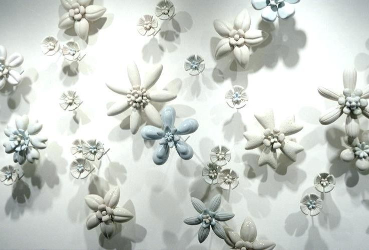 Preferred Ceramic Flower Wall Art Inside Ceramic Flower Wall Art Public Art Sculpture Flower Wall Flower Wall (View 14 of 15)