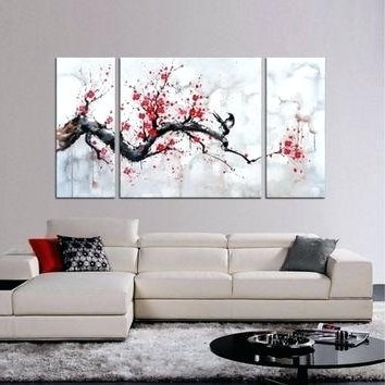Preferred Cherry Blossom Wall Art Set 3 Wall Art Design Ideas Red Cherry Intended For Red Cherry Blossom Wall Art (View 8 of 15)