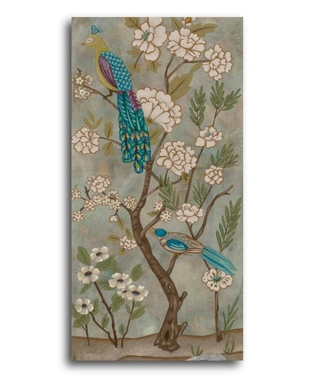 Preferred Chinoiserie Wall Art In Courtside Market Peacock Chinoiserie Canvas Wall Art (View 12 of 15)