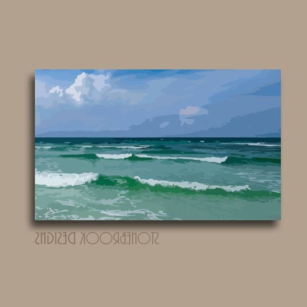 Preferred Coastal Nautical Wall Art Canvas Abstract Painting Beach Ocean With Abstract Nautical Wall Art (View 3 of 15)