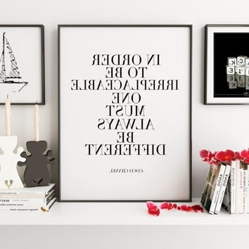 Preferred Coco Chanel Wall Chanel Wall Decor Fabulous Cheap Wall Decor For Chanel Wall Decor (View 7 of 15)