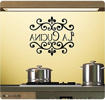 Preferred Cucina Wall Art For Amazon: La Cucina Wall Decal Sticker Art Mural Home Décor Quote (View 3 of 15)
