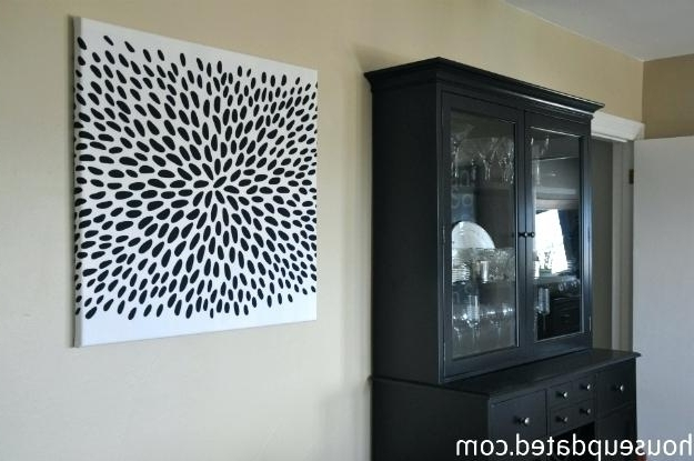 Preferred Decoration: Painting Fabric Canvas Wall Art Black White Unbelievable With Regard To Fabric Canvas Wall Art (View 12 of 15)