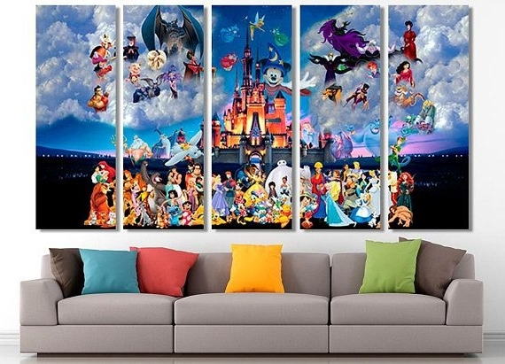 Preferred Disney Canvas Wall Art With Regard To Disney, Disney Canvas, Disney Wall Art, Disney Print, Disney Art (View 10 of 15)