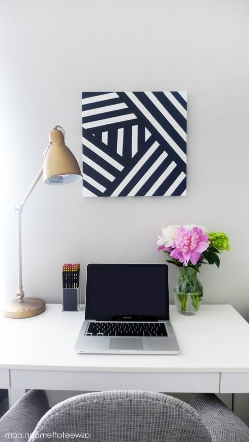 Preferred Diy Modern Black And White Abstract Art – Shelterness Intended For Diy Modern Abstract Wall Art (View 5 of 15)