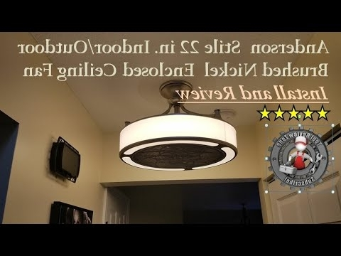 Preferred Enclosed Outdoor Ceiling Fans With Stile Anderson 22 In (View 15 of 15)