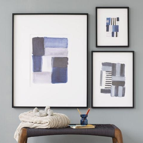 Preferred Framed Abstract Wall Art Brushstroke Wall Art West Elm – Nuestro Art For Framed Abstract Wall Art (View 4 of 15)