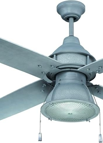 Preferred Galvanized Ceiling Fan Galvanized Ceiling Fan Perfect Outdoor For Outdoor Ceiling Fans With Galvanized Blades (View 11 of 15)
