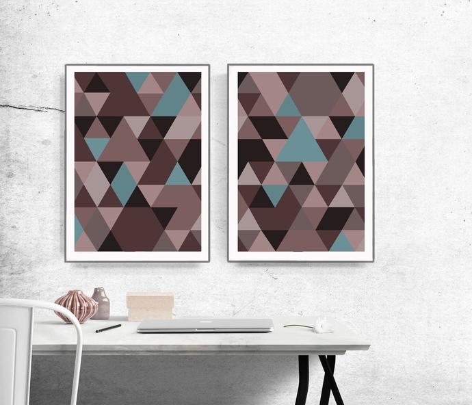 Preferred Graphic Design Art, Abstract Wall Art, Modernsemelart On Zibbet Regarding Abstract Graphic Wall Art (View 10 of 15)