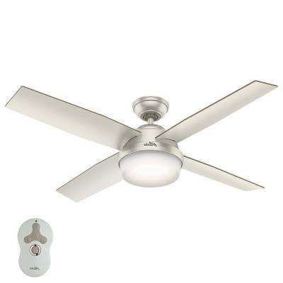 Preferred Hunter – Nickel – Outdoor – Ceiling Fans – Lighting – The Home Depot For Nickel Outdoor Ceiling Fans (View 12 of 15)