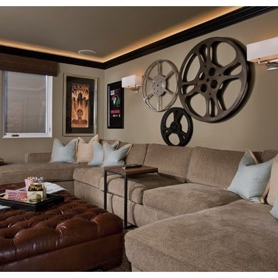 Preferred Living Room Media Room Wall Decor With Wall Decorating Ideas With Media Room Wall Art (View 13 of 15)