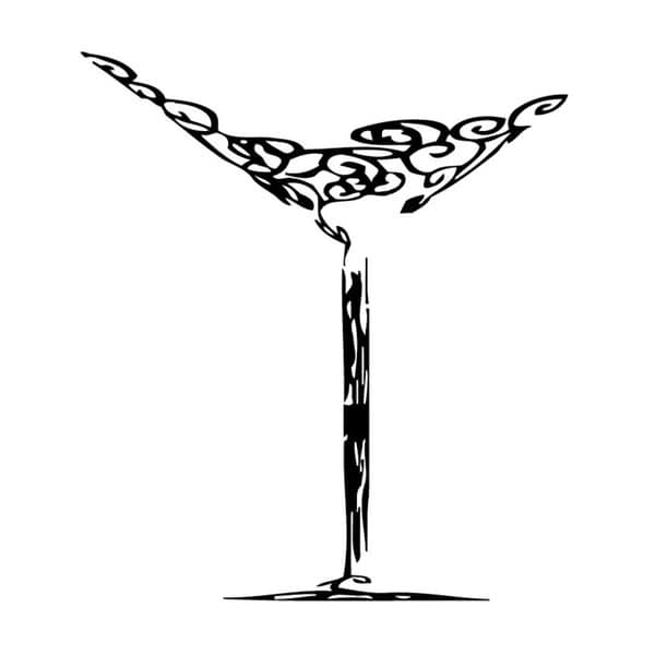 Preferred Martini Glass Wall Art Pertaining To Shop Martini Glass Vinyl Wall Art – Free Shipping Today – Overstock (View 4 of 15)