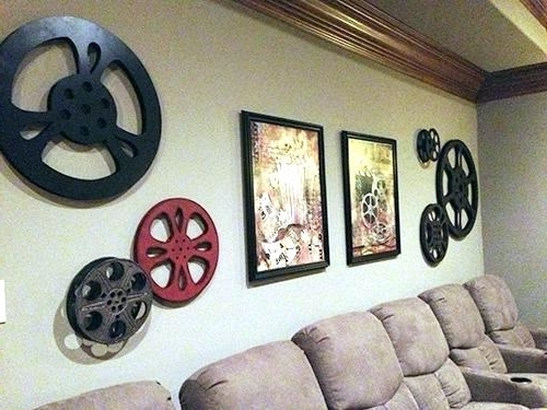 Preferred Media Room Wall Decor Theatre Room Wall Art Peaceful Design Media With Regard To Film Reel Wall Art (View 13 of 15)