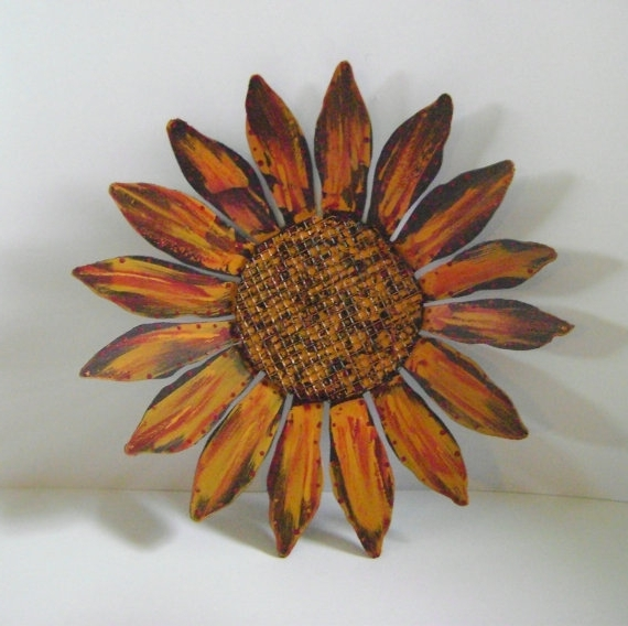 Preferred Metal Sunflower Yard Art With Regard To Sculptured Metal Yard Art, Metal Sunflower Wall Hanging, Hand (View 13 of 15)