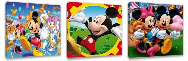 Preferred Mickey Mouse Clubhouse Wall Art Regarding Mickey Mouse Clubhouse Ii Canvas Wall Art Plaques/pictures (View 10 of 15)