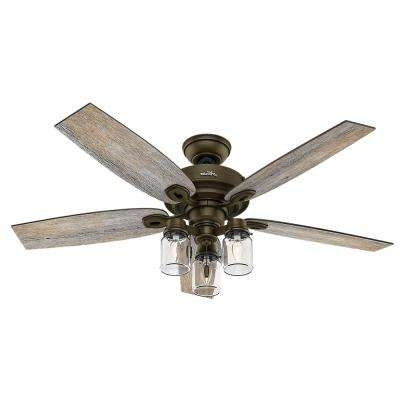 Preferred Outdoor Ceiling Fan No Electricity With Regard To Rustic – Ceiling Fans – Lighting – The Home Depot (View 6 of 15)