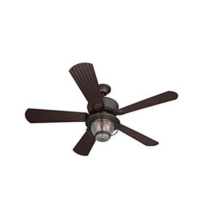 Preferred Outdoor Ceiling Fans Under $50 Pertaining To Merrimack 52 In Antique Bronze Downrod Mount Indoor/outdoor Ceiling (View 11 of 15)