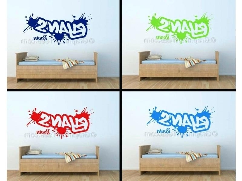 Preferred Personalised Name Wall Decals Plus Personalised Graffiti Wall Intended For Graffiti Wall Art Stickers (View 14 of 15)