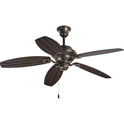 Preferred Progress Lighting P2533 20 52 Inch Air Pro Ceiling Fan, Antique Pertaining To 20 Inch Outdoor Ceiling Fans With Light (View 12 of 15)