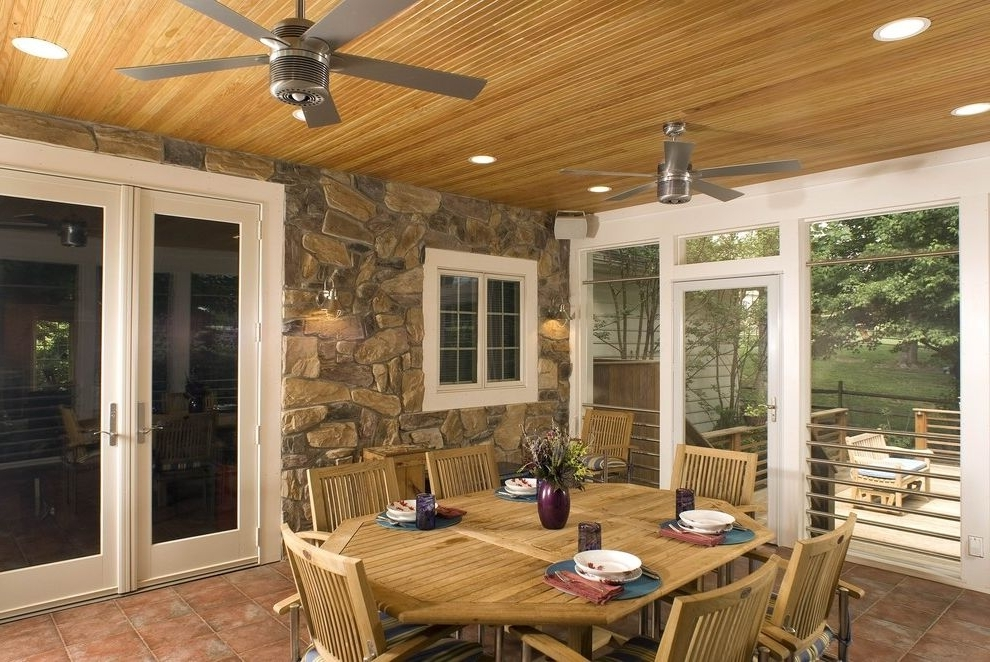 Preferred Rustic Outdoor Ceiling Fans Traditional Porch Also Accent Ceiling Regarding Outdoor Ceiling Fans For Screened Porches (View 11 of 15)