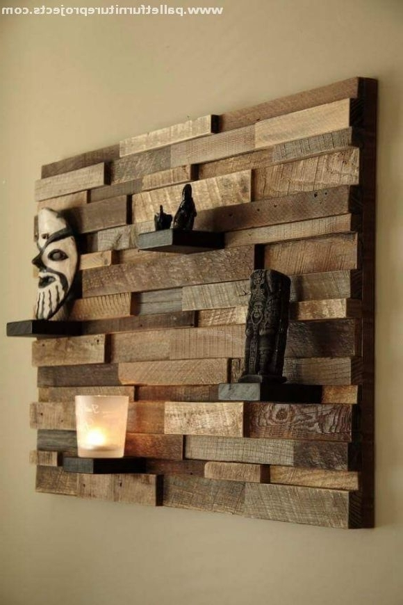 Preferred Rustic Wood Wall Decor Reclaimed Wood Wall Art Wall Decor Lath Art Throughout Dark Wood Wall Art (View 10 of 15)