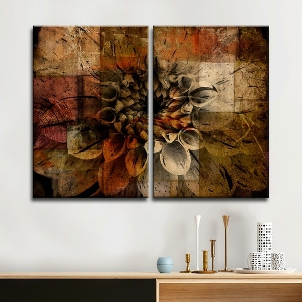 Preferred Shop Ready2Hangart 'daisy' Multi-Panel Oversized Abstract Canvas pertaining to Overstock Abstract Wall Art