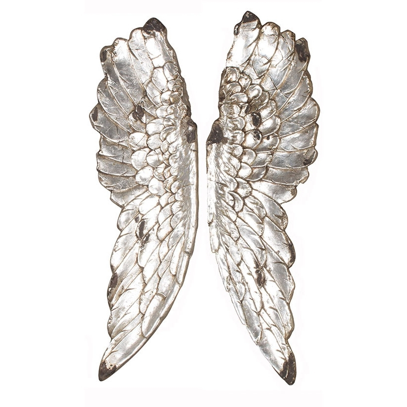 Preferred Silver Polyresin Angel Wings Wall Art Intended For Angel Wings Wall Art (View 4 of 15)