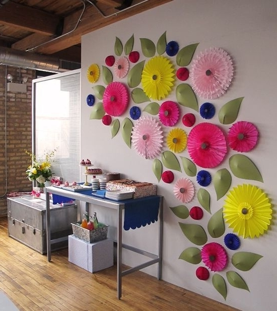 Preferred Umbra Flowers Wall Decor Ideas Luxury Crafty Ideas White Flower Wall With Do It Yourself 3D Wall Art (View 7 of 15)
