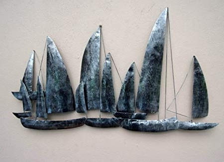 Preferred Unusual Metal Wall Art With Hand Made Silver Ships Metal Wall Art Unusual Gun Metal Sailing (View 14 of 15)