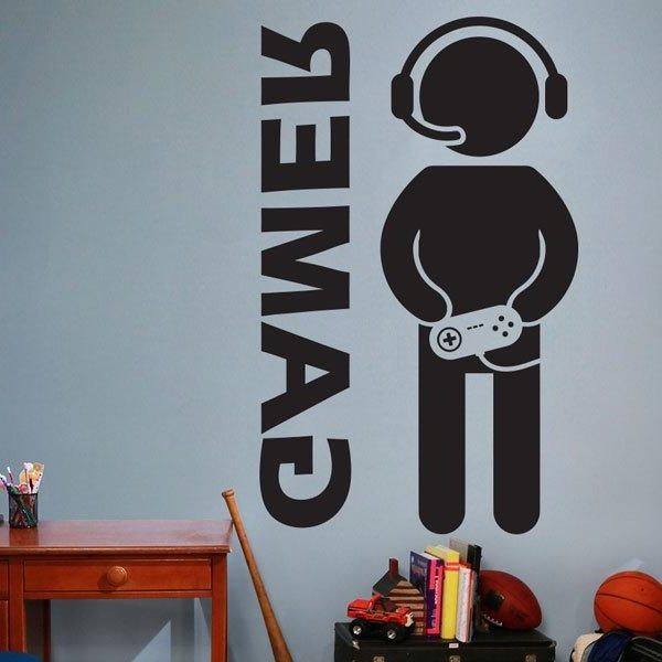 Preferred Video Game Wall Art Regarding Video Game Gaming Gamer Wall Decal Art Decor Sticker Vinyl Wall (View 4 of 15)