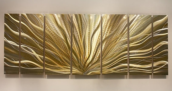 Preferred Wall Art Designs Metal Wall Art Decor Gold And Silver Modern In With Regard To Silver And Gold Wall Art (View 7 of 15)