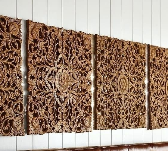 Preferred Wooden Wall Art Panels Regarding Wooden Wall Art Panels Carved Wood Beauteous Ornate Panel With Ideas (View 2 of 15)