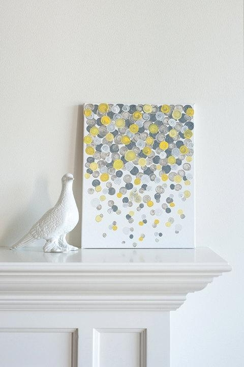 Preferred X Canvas Paintin Yellow And Grey Wall Decor Epic Decorative Wall Within Yellow Grey Wall Art (View 10 of 15)
