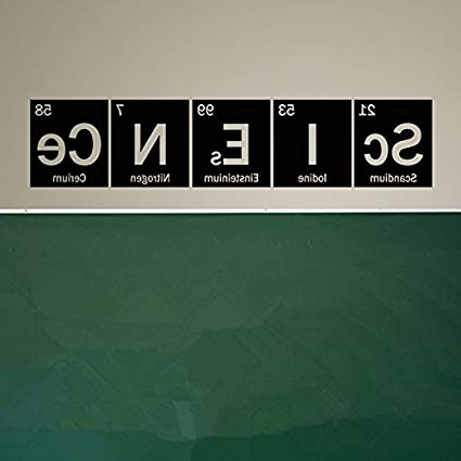Preferred Yingkai Science Periodic Table Elements Vinyl Wall Art Decal Living Inside Elements Wall Art (View 10 of 15)