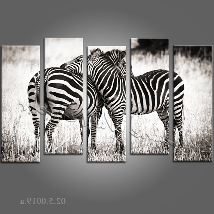 Featured Photo of Zebra Wall Art Canvas