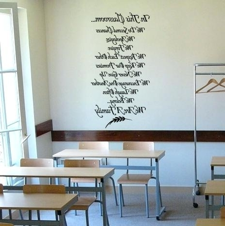 Preschool Classroom Wall Decals Pertaining To 2017 Classroom Wall Decals In This Classroom Wall Decal Preschool (View 10 of 15)