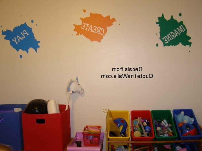 Preschool Wall Art In Well Liked Wall Decals For Your Preschool Or Play Room: Quote The Walls – Mommy (View 9 of 15)