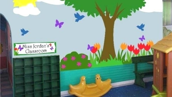 Preschool Wall Decoration Pertaining To Fashionable Preschool Wall Decoration Preschool Classroom Wall Decals Dazzling (View 10 of 15)